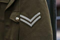 英国WWII伍长Rank 免版税库存照片