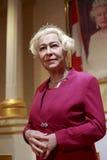 英女王伊丽莎白二世蜡象  免版税图库摄影