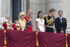英女王伊丽莎白二世,菲利普王子 免版税库存照片