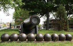 0英寸帕罗特大炮1864作为一份南北战争纪念品在海湾布鲁克林里奇地区  免版税库存照片