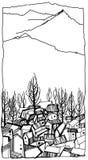 英尺山斯洛伐克村庄 皇族释放例证