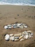 英尺沙子石头 库存图片