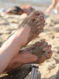 英尺沙子 免版税库存照片