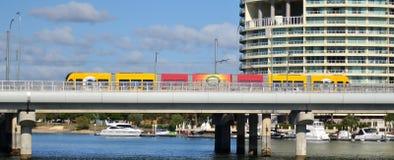 英属黄金海岸光路轨G -昆士兰澳大利亚 库存图片