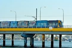 英属黄金海岸光路轨G -昆士兰澳大利亚 免版税库存图片