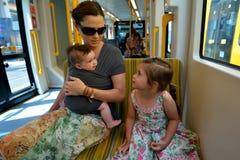 英属黄金海岸光路轨G -昆士兰澳大利亚 图库摄影