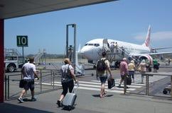 英属黄金海岸国际性组织Airpor 库存图片
