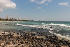 英属黄金海岸在昆士兰 库存图片