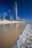 英属黄金海岸在澳大利亚 免版税库存照片