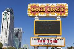 英属黄金海岸旅馆在拉斯维加斯, 2013年6月14日的NV 免版税库存照片
