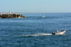 英属黄金海岸海上航道-昆士兰澳大利亚 免版税库存图片