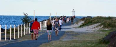英属黄金海岸海上航道-昆士兰澳大利亚 免版税库存照片