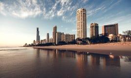 英属黄金海岸,昆士兰,澳大利亚 库存图片