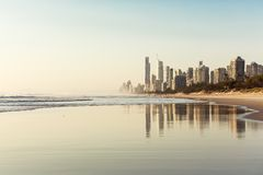 英属黄金海岸,昆士兰,澳大利亚 免版税库存照片