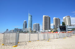 英属黄金海岸Schoolies星期-昆士兰澳大利亚 库存照片