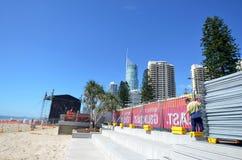 英属黄金海岸Schoolies星期-昆士兰澳大利亚 免版税库存图片