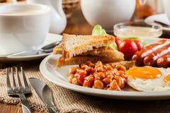 英式早餐用香肠 免版税库存图片