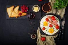 英式早餐-煎蛋 免版税图库摄影