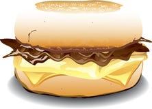 英格兰式松饼三明治 库存照片