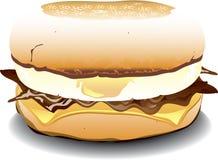 英格兰式松饼三明治 库存图片