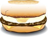 英格兰式松饼三明治 免版税图库摄影