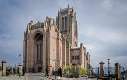 英格兰教会大教堂,利物浦 免版税库存照片