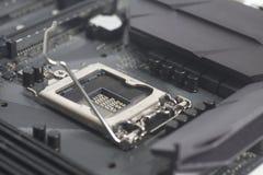 英特尔LGA 1151在主板计算机个人计算机的cpu插口 图库摄影