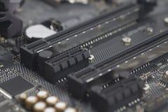 英特尔LGA 1151在主板计算机个人计算机的cpu插口 库存图片