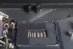 英特尔LGA 1151在主板计算机个人计算机的cpu插口 免版税库存图片
