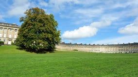英王乔治一世至三世时期时代月牙和绿色公园在巴恩 免版税库存照片