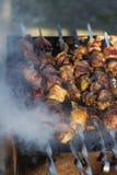 英王乔治一世至三世时期传统食物Mtsvadi 库存图片