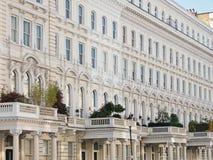 英王乔治一世至三世时期住房在伦敦 免版税库存照片