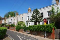 英王乔治一世至三世时期房子,温彻斯特,汉普郡 免版税库存照片