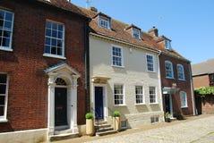 英王乔治一世至三世时期房子, Poole,多西特 库存图片