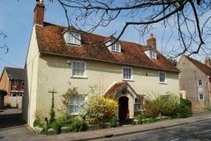 英王乔治一世至三世时期房子Fordingbridge,汉普郡 图库摄影