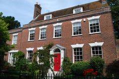 英王乔治一世至三世时期房子Poole多西特 库存照片