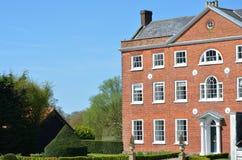 英王乔治一世至三世时期豪宅侧视图 免版税库存图片