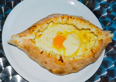 英王乔治一世至三世时期面包用鸡蛋和酸奶干酪 库存图片