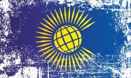 英联邦的旗子 起皱纹的肮脏的斑点 皇族释放例证
