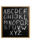 英语字母表信函  免版税库存图片