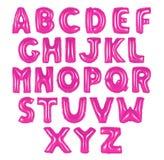 英语字母表桃红色颜色 库存照片
