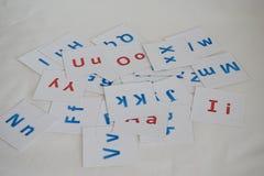 英语字母表的信件 免版税库存图片