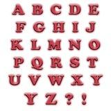英语字母表红色 免版税库存照片