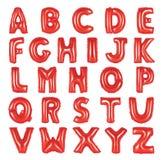 英语字母表红颜色 库存图片