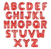 英语字母表红颜色 库存照片
