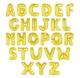 英语字母表金黄颜色 库存照片