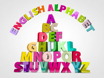 英语字母表 库存照片