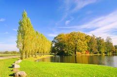 英语接地湖woerlitz 免版税库存图片