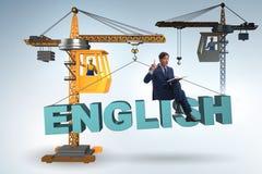英语训练的年轻人 免版税库存图片