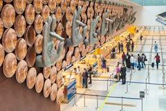 英迪拉・甘地机场 免版税库存照片